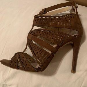 Zara Suede zip heel.